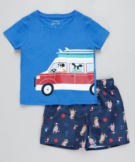 Conjunto-Infantil-de-Camiseta-Cachorro-e-Vaca-Manga-Curta-Azul---Bermuda-Estampada-Azul-Marinho-9428682-Azul_Marinho_1