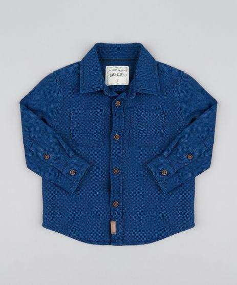 Camisa-Infantil-Chambray-Texturizado-Manga-Longa-Azul-Escuro-9364603-Azul_Escuro_1