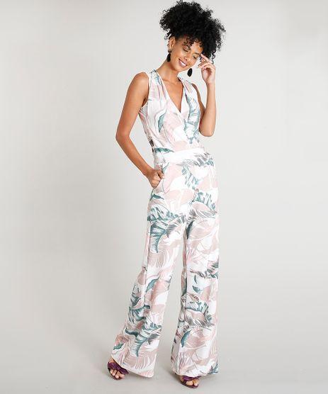 Macacao-Longo-Feminino-Estampado-Animal-Floral-com-Decote-V-Rose-9376281-Rose_1