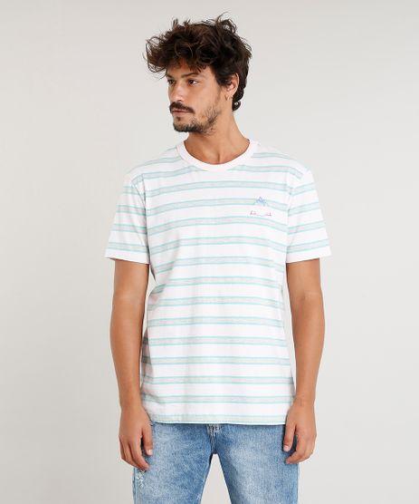 Camiseta-Masculina--Los-Angeles--Listrada-Manga-Curta-Gola-Careca-Rosa-Claro-9349995-Rosa_Claro_1