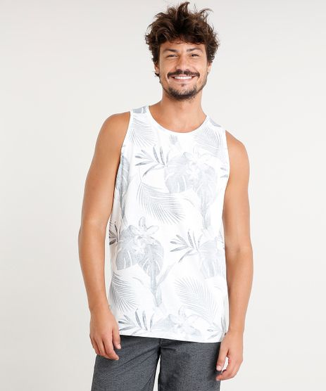 Regata-Masculina-Estampada-de-Folhagem-Gola-Redonda-Off-White-9391481-Off_White_1