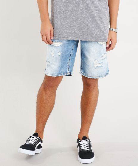 Bermuda-Jeans-Masculina-Destroyed-Azul-Claro-9456096-Azul_Claro_1