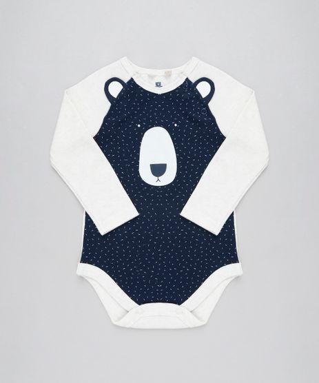 Body-Infantil-Urso-com-Orelhas-Manga-Longa-Decote-Redondo-Bege-Claro-9205079-Bege_Claro_1
