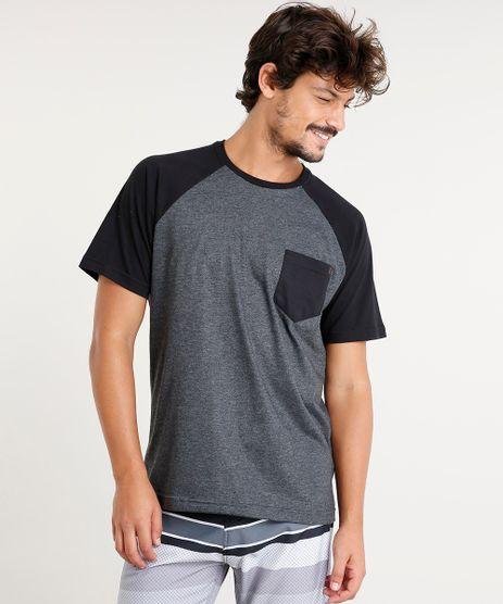 Camiseta-Masculina-Raglan-com-Bolso-Manga-Curta-Gola-Careca-Cinza-Mescla-Escuro-9435000-Cinza_Mescla_Escuro_1