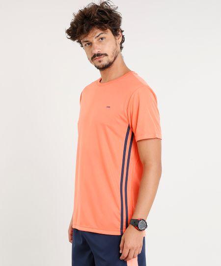 Camiseta Masculina Esportiva Ace Básica Manga Curta Gola Careca Laranja - cea