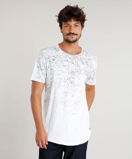 Camiseta-Masculina-Longa-com-Respingos-Manga-Curta-Gola-Careca-Branca-9471923-Branco_1