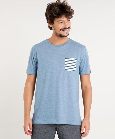 Camiseta-Masculina-com-Bolso-Listrado-Manga-Curta-Gola-Careca-Azul-9396812-Azul_1