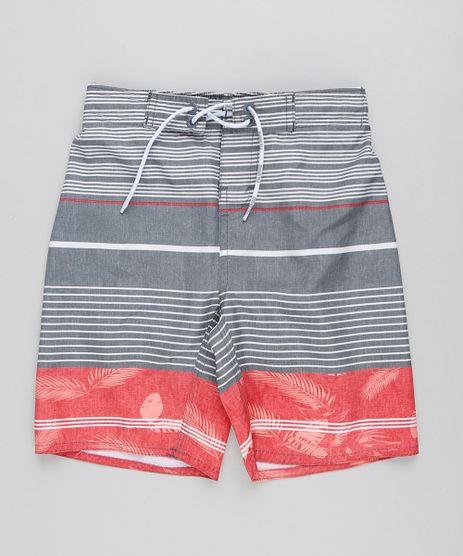 Bermuda-Surf-Infantil-Listrada-com-Cordao-Chumbo-9438856-Chumbo_1