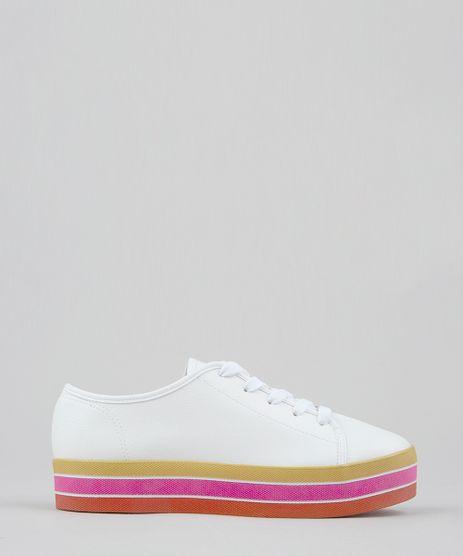 Tenis-Feminino-Flatform-Moleca-com-Solado-Colorido-Branco-9470022-Branco_1