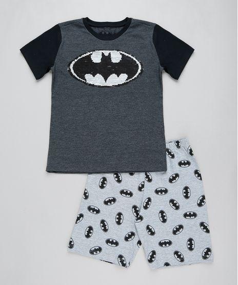 Pijama-Infantil-Batman-com-Paete-Dupla-Face-Manga-Curta-Cinza-Mescla-Escuro-9418596-Cinza_Mescla_Escuro_1