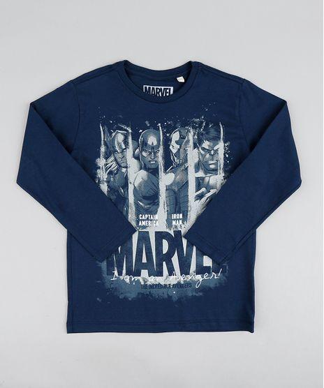 Camiseta-Infantil-Os-Vingadores-Manga-Longa-Gola-Careca-Azul-Marinho-9427590-Azul_Marinho_1