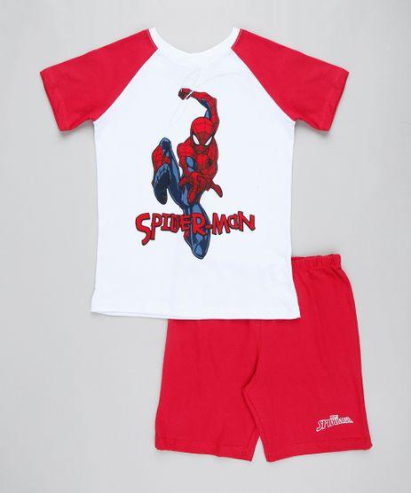Pijama-Infantil-Homem-Aranha-Raglan-Manga-Curta-Branco-9407368-Branco_1