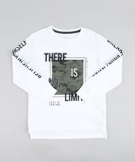 Camiseta-Alongada-Infantil--There-is-No-Limits--Manga-Longa-Gola-Careca-Off-White-9428383-Off_White_1