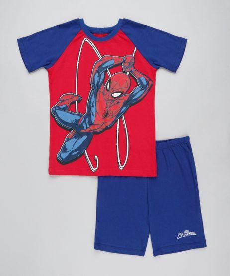 Pijama-Infantil-Homem-Aranha-Raglan-Manga-Curta-Vermelho-9407369-Vermelho_1