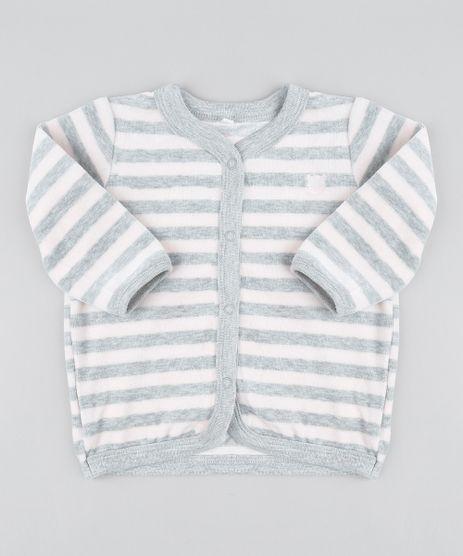 Cardigan-Infantil-Listrado-com-Bolsos-em-Plush-Rose-9195532-Rose_1