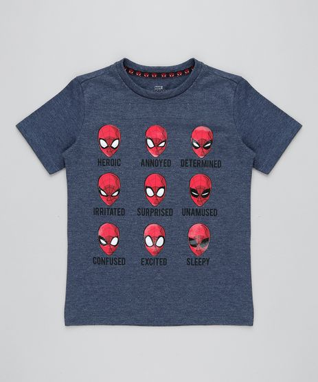 Camiseta-Infantil-Homem-Aranha-Manga-Curta-Gola-Careca-Azul-Marinho-9427997-Azul_Marinho_1