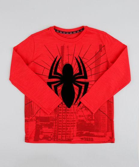 Camiseta-Infantil-Homem-Aranha-Manga-Longa-Gola-Careca-Vermelha-9410322-Vermelho_1