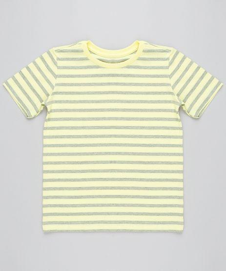 Camiseta-Infantil-Listrada-Basica-Manga-Curta-Gola-Careca-Amarela-9410880-Amarelo_1