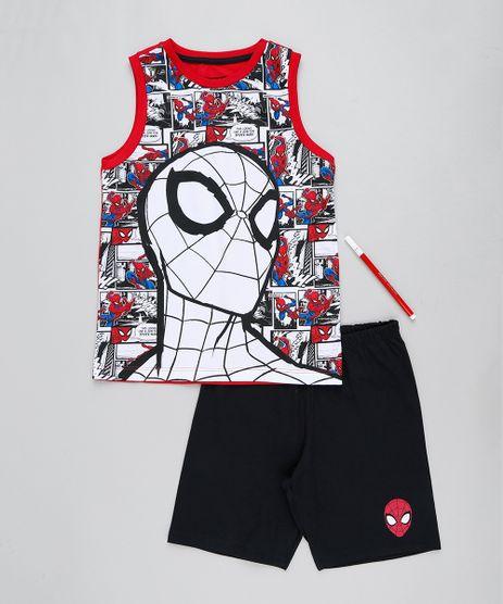 Pijama-Infantil-Homem-Aranha-Regata---Canetinha-Vermelho-9418595-Vermelho_1