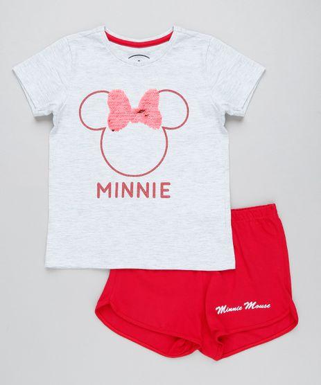 Pijama-Infantil-Minnie-com-Paete-Dupla-Face-Manga-Curta-Cinza-Mescla-9418635-Cinza_Mescla_1