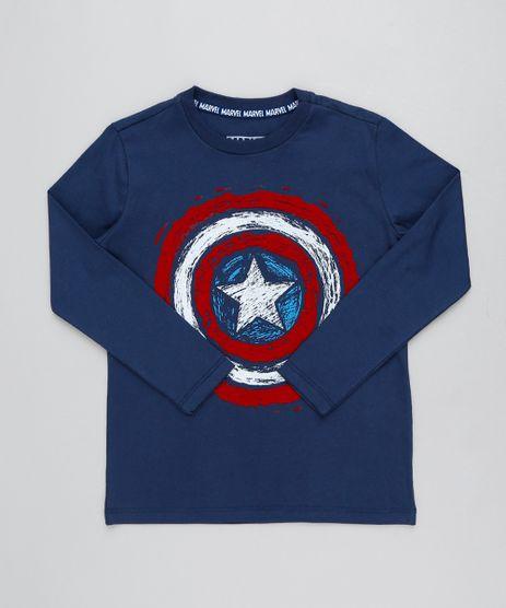 Camiseta-Infantil-Capitao-America-Manga-Longa-Gola-Careca-Azul-Marinho-9426305-Azul_Marinho_1