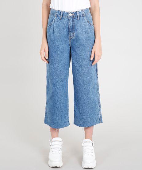 Calca-Jeans-Pantacourt-Feminina-Skater-Mindset-Barra-a-Fio-Azul-Medio-9480223-Azul_Medio_1