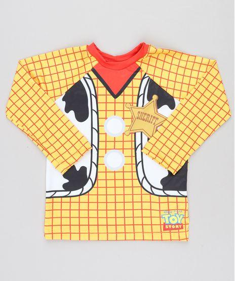 Camiseta-de-Praia-Infantil-Woody-Toy-Story-Manga-Longa-com-Protecao-UV50--Amarela-9430863-Amarelo_1