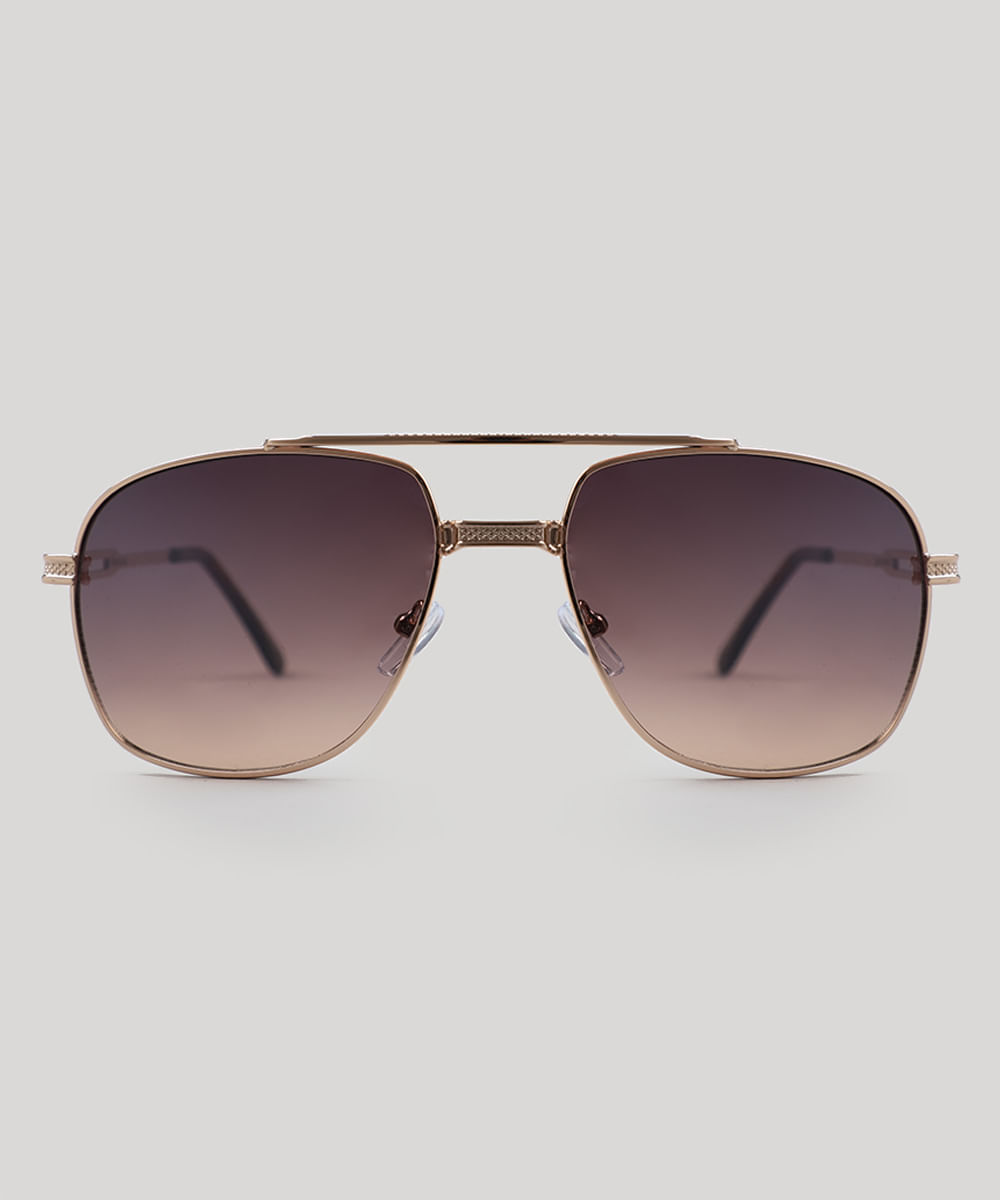 e16ad06127cdf ... Oculos-de-Sol-Quadrado-Masculino-Oneself-Dourado-9505040-