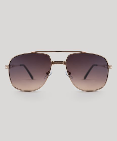 Oculos-de-Sol-Quadrado-Masculino-Oneself-Dourado-9505040-Dourado_1