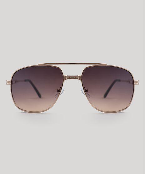 563abab292a Oculos-de-Sol-Quadrado-Masculino-Oneself-Dourado-9505040-
