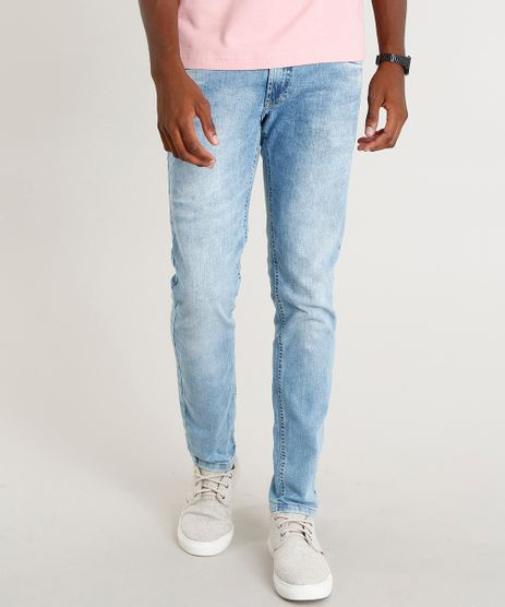 Calca-Jeans-Masculina-Slim-com-Puidos-Azul-Claro-9393922-Azul_Claro_1