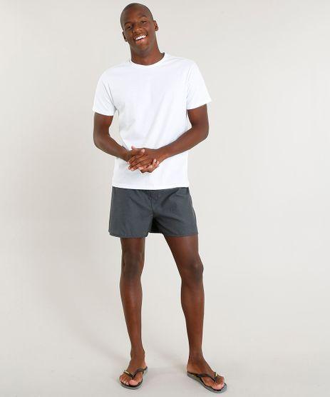 Pijama-Masculino-com-Camiseta-Manga-Curta---Samba-Cancao-Branco-9395533-Branco_1
