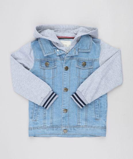 Jaqueta-Jeans-Infantil-com-Capuz-e-Moletom-Azul-Claro-9358030-Azul_Claro_1