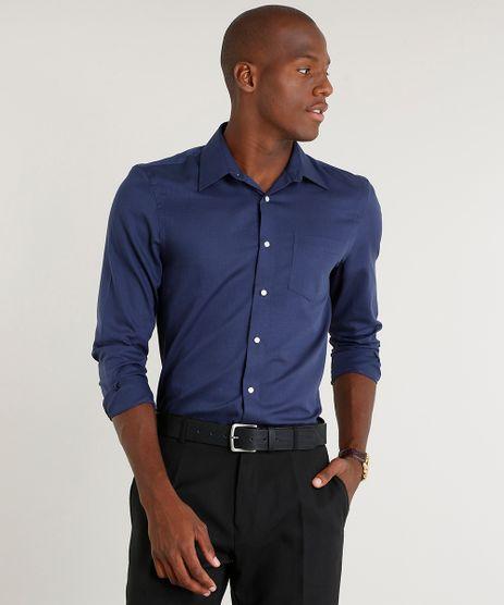 Camisa-Masculina-Comfort-com-Bolso-Manga-Longa-Azul-Marinho-9249074-Azul_Marinho_1