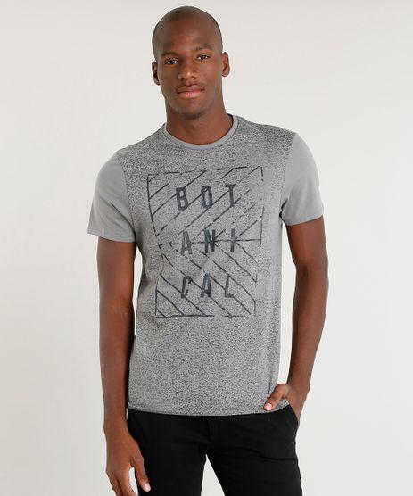 Camiseta-Masculina-Slim-Fit--Botanical--Manga-Curta-Gola-Careca-Cinza-9413018-Cinza_1