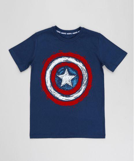 Camiseta-Infantil-Capitao-America-Manga-Curta-Gola-Careca-Azul-Marinho-9257083-Azul_Marinho_1