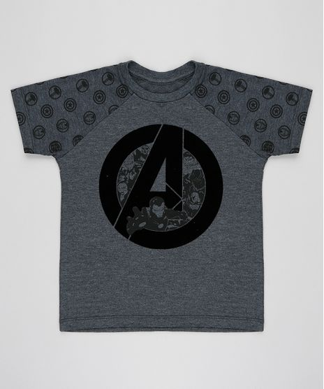 Camiseta-Infantil-Os-Vingadores-Raglan-Manga-Curta-Gola-Careca-Cinza-Mescla-Escuro-9281446-Cinza_Mescla_Escuro_1