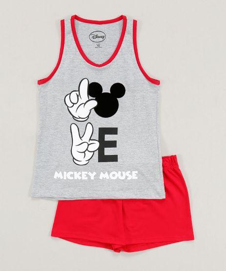 Pijama-Infantil-Mickey-Regata-Cinza-Mescla-9418636-Cinza_Mescla_1