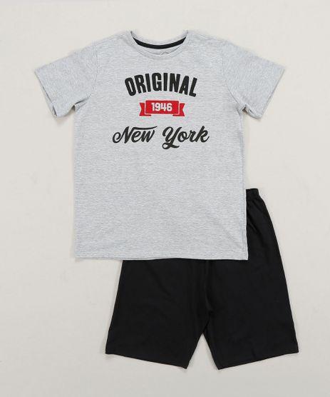 Pijama-Infantil--Original-New-York--Manga-Curta-Cinza-Mescla-9418589-Cinza_Mescla_1
