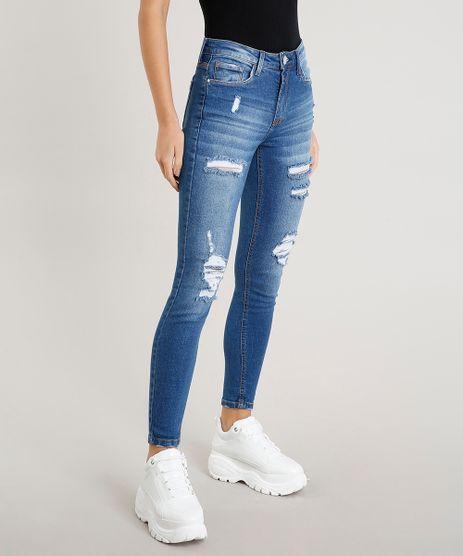 Calca-Jeans-Feminina-Skinny-Destroyed-Azul-Medio-9458541-Azul_Medio_1