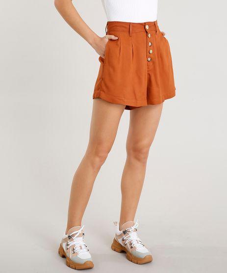 Short-Feminino-Cintura-Alta-com-Botoes-Caramelo-9458552-Caramelo_1