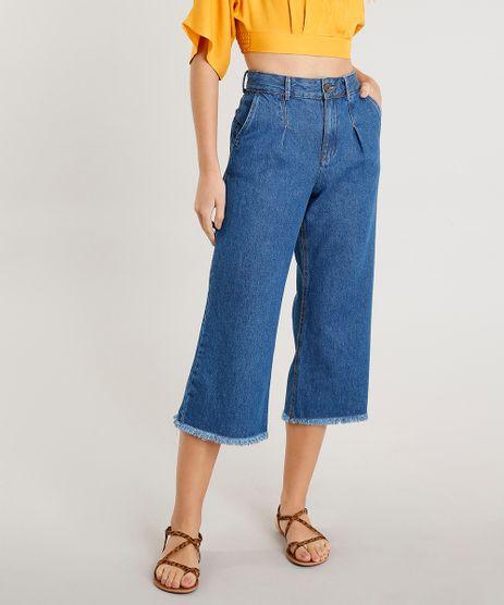 Calca-Jeans-Pantacourt-Feminina-Barra-Desfiada-Azul-Escuro-9453693-Azul_Escuro_1