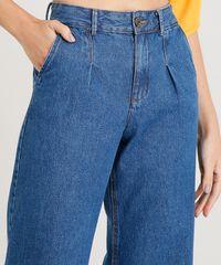 c5ee877fe ... Calca-Jeans-Pantacourt-Feminina-Barra-Desfiada-Azul-Escuro-