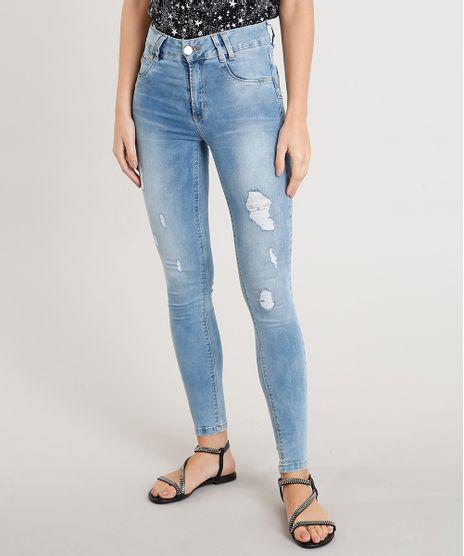 Calca-Jeans-Feminina-Cigarrete-Sawary-com-Puidos-Azul-Claro-9446780-Azul_Claro_1