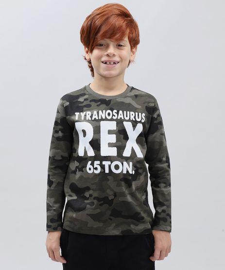 Camiseta-Infantil-Estampada-Camuflada--Rex--Manga-Longa-Gola-Careca-Verde-Militar-9430535-Verde_Militar_1