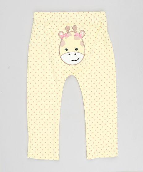 Calca-Infantil-Girafa-Estampada-de-Poa-Amarela-9188413-Amarelo_1