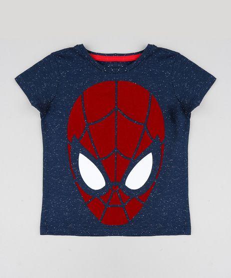 Camiseta-Infantil-Homem-Aranha-Manga-Curta-Gola-Careca-Azul-Marinho-9429425-Azul_Marinho_1