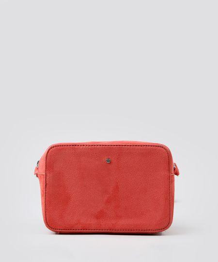 88adcc822 Bolsa Feminina Transversal em Suede Vermelha - Único | Menor preço ...