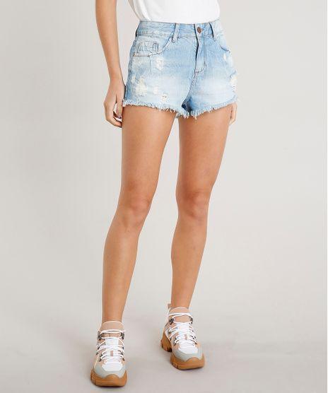 Short-Jeans-Feminino-Boy-Destroyed-com-Barra-Desfiada-Azul-Claro-9307469-Azul_Claro_1