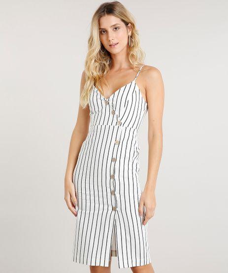 Vestido-Feminino-Midi-Transpassado-Listrado-em-Linho-com-Botoes-Alca-Fina-Off-White-9378710-Off_White_1